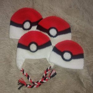 Pokemon Go Beanie for adults crocheted NWoT